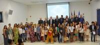Homenagem aos atletas do karatê e alunos destaques das escolas